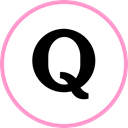 media, web, Social, Quora Black icon