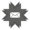 envelope, mail, Cover DimGray icon