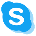 media, network, Skype, Social, free DodgerBlue icon
