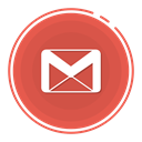 gmail icon, gradient icon, social media icon, Gmail circle icon IndianRed icon