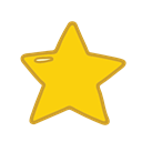 Smart, school, student, Object, study, star Black icon