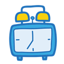 Clock, school, student, Object, study SteelBlue icon
