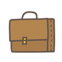Bag, suitcase, study, school, student, Object Peru icon