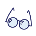 Glasses, school, student, Object, study Icon