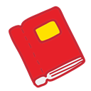 Book, school, student, Object, study Crimson icon