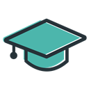 education, student, website, school, Company Black icon