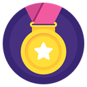 Prize, winner, sport, win, award, medal, Badge DarkSlateBlue icon