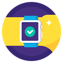 Apple, watch, Hand, checkmark, sport, done, Completed Gold icon
