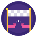 Finish, Running, sport, Badge, done, winner, Route DarkSlateBlue icon