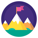 Top, flag, sport, Badge, winner, mountain, leader DarkSlateBlue icon