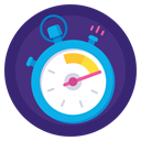 time, stopwatch, timer, sport, Badge, Fast, results MidnightBlue icon