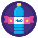 drink, sport, Badge, water, Bottle, h2o, Hydration DarkSlateBlue icon