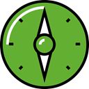 compass, navigation, Gps, north, south OliveDrab icon
