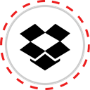 dropbox, Logo, Social, Company, Brand, media Black icon