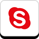 media, Logo, Skype, Social, Company, Brand Red icon