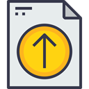 document, paper, Message, Arrow, Up, office, Page, Business, Form Lavender icon