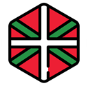 world, flag, spain, flags, Country, autonomous, Nation, Basque Country Black icon