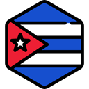 flag, Cuba, flags, Country, Nation, world Black icon