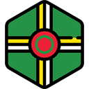 world, flag, Dominica, flags, Country, Nation SeaGreen icon