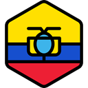 world, flag, Ecuador, flags, Country, Nation Gold icon