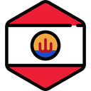 world, flag, flags, Country, Nation, French Polynesia Crimson icon