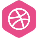 Social, portfolio, dribbble, yumminky, media, Design, share PaleVioletRed icon