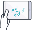 Connection device, music device, phone device, play device, sound device, mobile device, game device GhostWhite icon