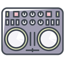 Connection device, music device, phone device, mobile device, game device, play device, sound device DarkGray icon