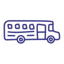 school, transport, vehicle, Bus Black icon
