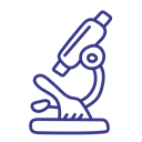 Biology, microscope, science, lab Black icon