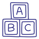 play, Abc, Bricks, Toy DarkSlateBlue icon