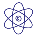 Atom, Chemistry, Molecule, physics Black icon