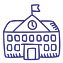 school, college, academy, schoolhouse DarkSlateBlue icon