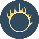 Circus, Fun, carnival, entertainment, Fairground, Juggling, Ring Of Fire Icon