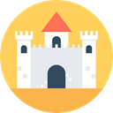 landscape, Castle, fortress, legend, buildings, Fantasy, medieval, Monuments, Constructions, Castles, Folklore, Fairy Tale SandyBrown icon