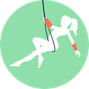 Circus, entertainment, Fairground, Funambulist LightGreen icon