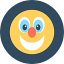 people, user, Avatar, Clown, Circus, Fun, carnival, entertainment, Costume, Fairground, Birthday And Party DarkSlateGray icon
