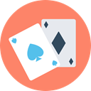 poker, Black jack, gaming, Casino, gambling, entertainment, Ace Of Hearts Salmon icon