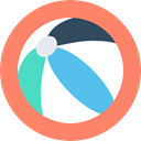 Fun, entertainment, leisure, Ball, Beach ball, summer Salmon icon