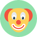 Face, head, interface, funny, Clown, Comedy, entertainment, laughter Icon