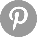 Social, pinterest, media, online DarkGray icon