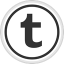 Logo, Social, Tumblr, media, online DarkSlateGray icon