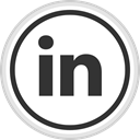 Logo, Linkedin, Social, media, online DarkSlateGray icon
