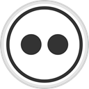 media, online, Logo, flickr, Social DarkSlateGray icon