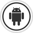 media, online, Logo, Social, Android DarkSlateGray icon
