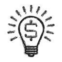 Idea, Business, Money Black icon