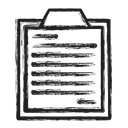 list, Business, survey Black icon