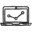 Diagram, Computer, graph, Business Black icon