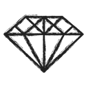 Business, diamond, gemstone Black icon