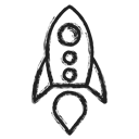 seo, Business, Rocket Black icon